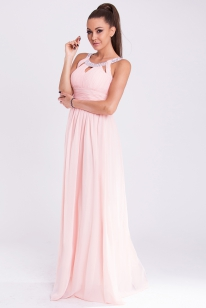 EVA&LOLA   DRESS - powder pink 19011-1