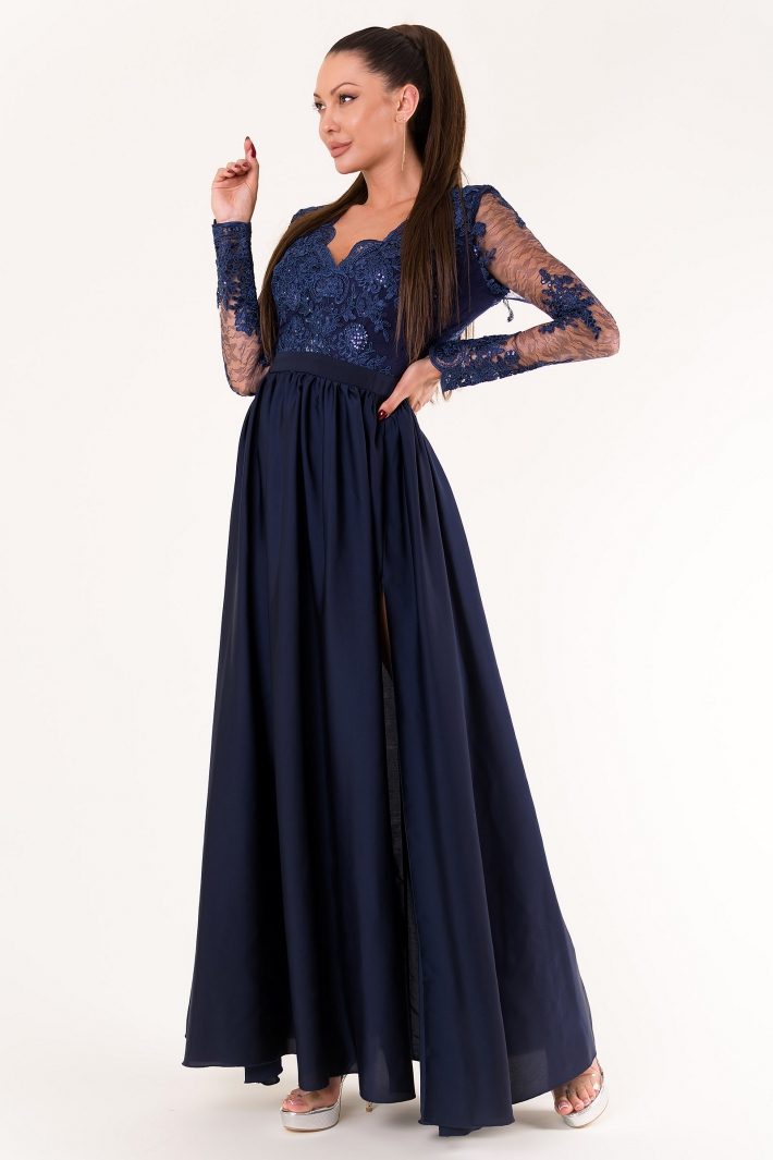 EVA & LOLA DRESS NAVY BLUE 60008-3