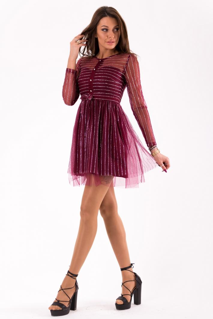6c402aa0 SOKY SOKA DRESS burgundy 46022-2 - Dresses - For females - Dresses ...