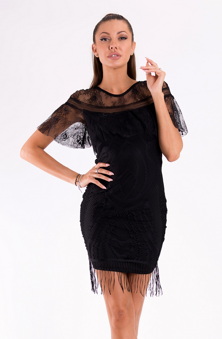 SOKY SOKA  DRESS BLACK 49010-1