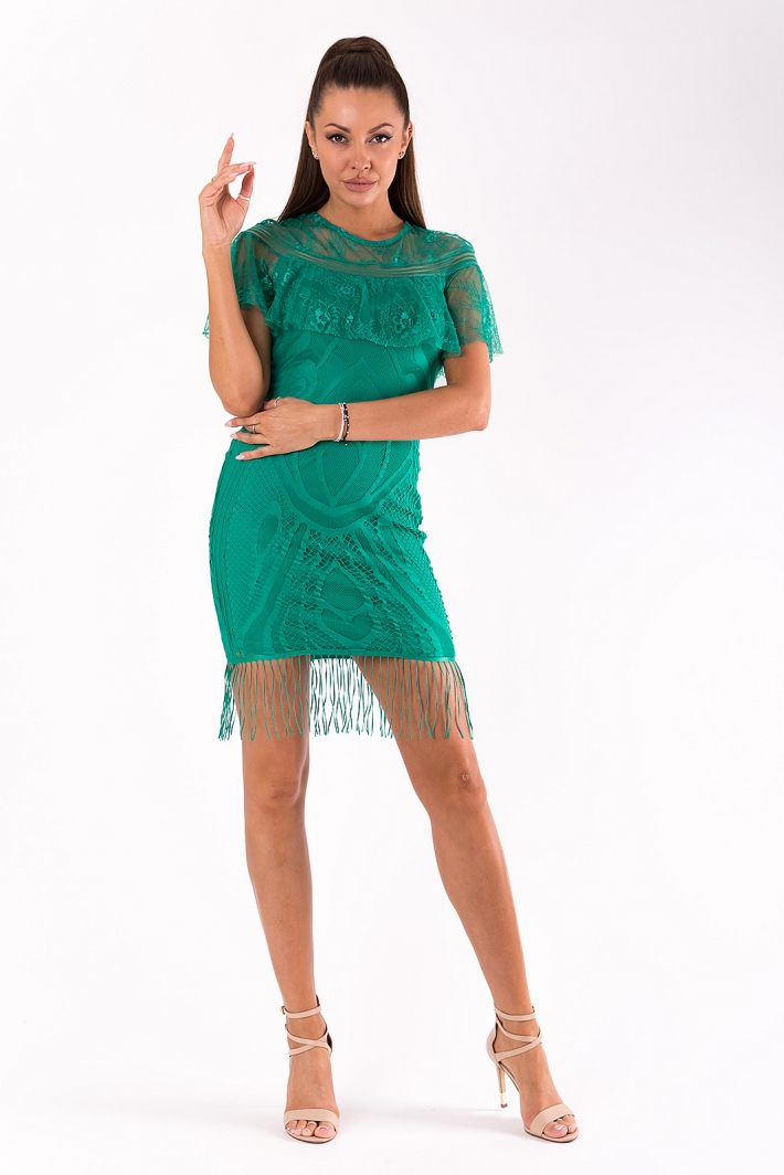 SOKY SOKA  DRESS GREEN 49010-4