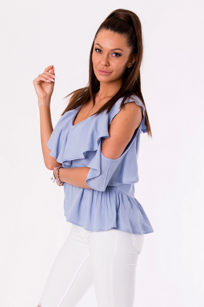BLOUSE -BLUE 48027-4