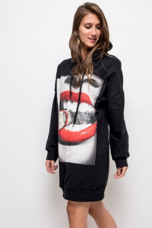 OVERSIZE DRESS / SWEATSHIRT BLACK 61006-1