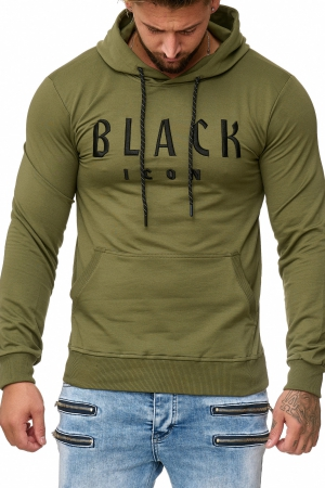 MEN'S BLOUSE BLACK ICON-KHAKI 52004-3