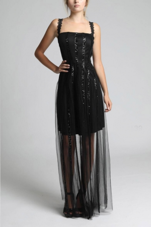SOKY SOKA  DRESS BLACK 62009-1