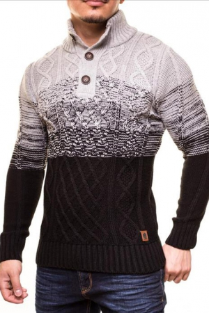 MALE HOT SWEATER CRSM - BLACK-GREY 9503-2