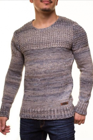 MALE HOT SWEATER CRSM - BLUE-GREY 9502-3