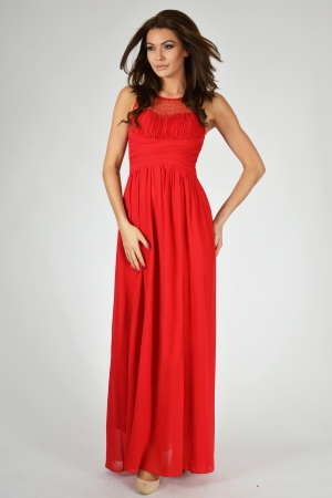 EVA & LOLA DRESS - RED 9709-4