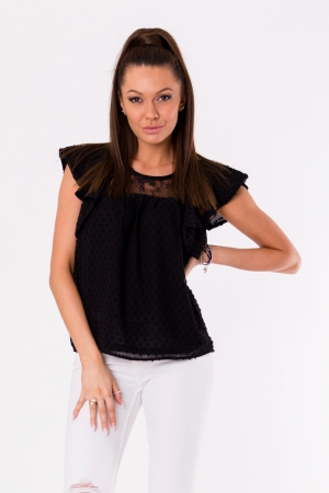 BLOUSE -BLACK 48028-4