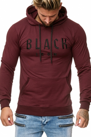 MEN'S BLOUSE BLACK ICON- burgundy 52004-2