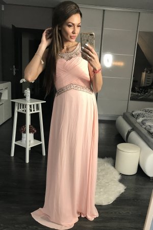 EVA & LOLA DRESS powder pink 44003-1
