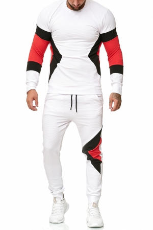 SWEAT SUIT MAN- WHITE  52009-4