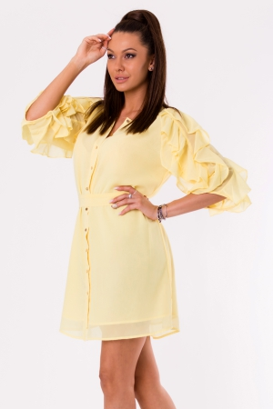 DRESS -SUNNY YELLOW 48026-2