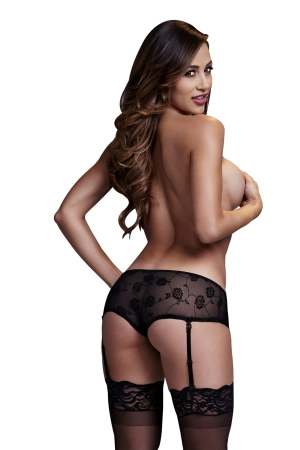 BACI panties with open crotch stockings 50009-4