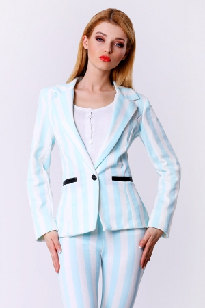 4306-2 Pastel striped jacket - blue