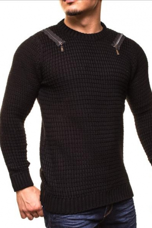 MALE SWEATER CRSM - BLACK 9507-1