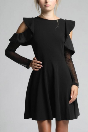 SOKY SOKA  DRESS BLACK 62005-1