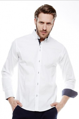 SLIM-FIT SHIRT CRSM - WHITE 16010-1