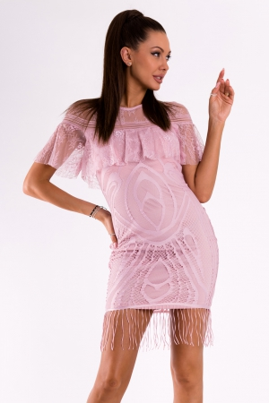 SOKY SOKA  DRESS LIGHT PINK 49010-3