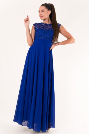 EVA & LOLA DRESS ROYAL BLUE 60005-5