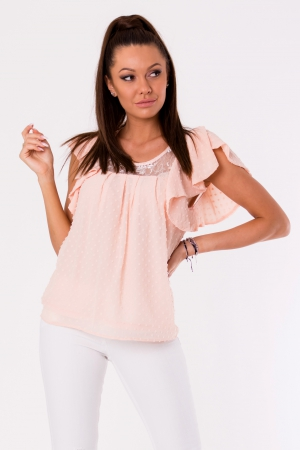 BLOUSE -POWDER PINK 48028-2
