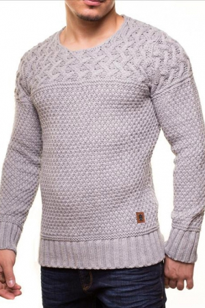 MALE SWEATER CRSM - GREY 9516-3