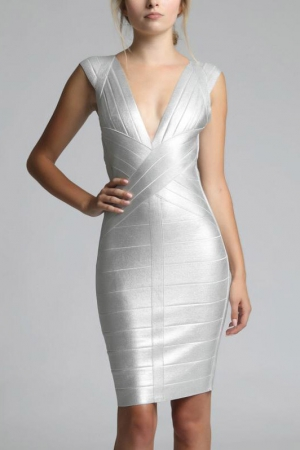 SOKY SOKA  DRESS SILVER 62011-1