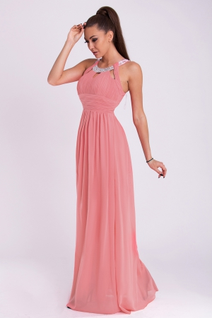 EVA & LOLA DRESS - powder dark pink 19011-7