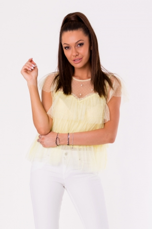 BLOUSE - yellow 48025-3