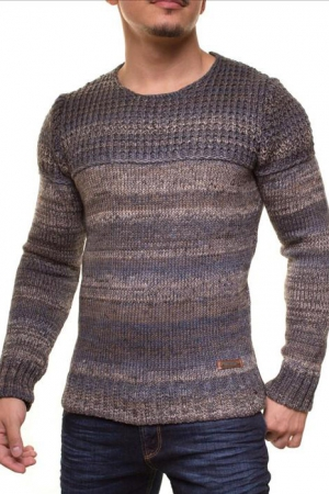 MALE HOT SWEATER CRSM - CAMEL-GREY 9502-2