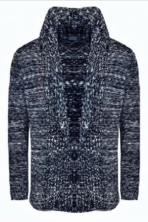 MALE V-NECK CARDIGAN CRSM - NAVY BLUE 9802-1