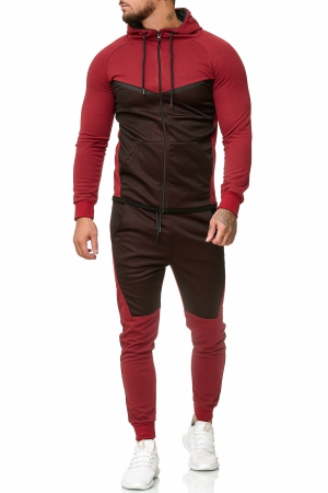 SWEAT SUIT MAN- RED 52008-2