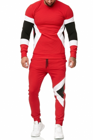 SWEAT SUIT MAN- RED 52009-3
