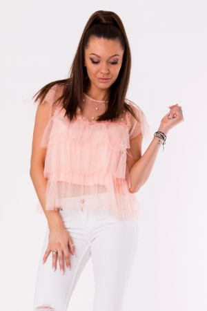 BLOUSE -POWDER PINK 48025-4